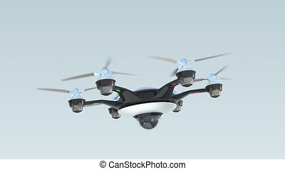 Drone with surveillance camera