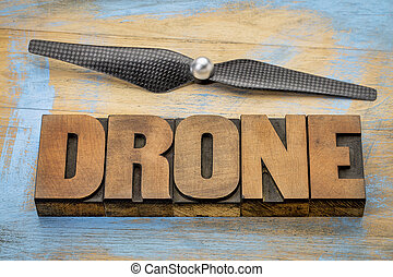 drone word abstract