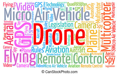 Drone word cloud concept