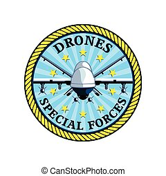 Drones forces badge