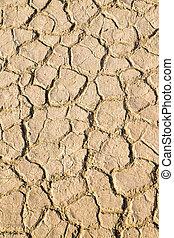 droog, terrein, brokken, earch, textuur