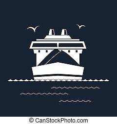 droog, vrachtschip, black , vrijstaand