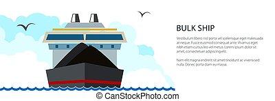 droog, vrachtschip, spandoek