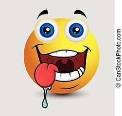 Drooling Emoji Character