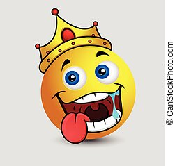 Drooling King Smiley Character