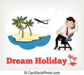 droom, vakantie