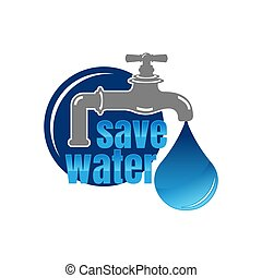 drop., écologie, couper papier, jour, -, vecteur, eau, sauver, concept, fond, bannière, gabarit, mondiale