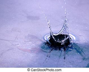 Drop - a slash in a pond