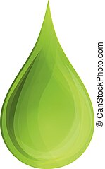 Drop aloe oil icon, cartoon style