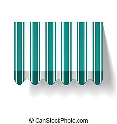 Vector illustration of a drop awning
