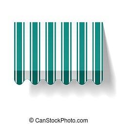Drop awning - Vector illustration of a drop awning