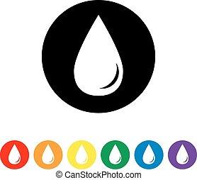 Drop black color icon