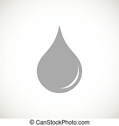 Drop black icon