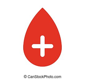 drop blood icon with plus
