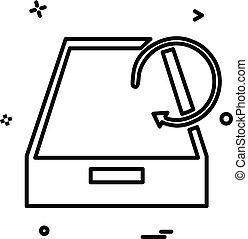 Drop box icon design vector