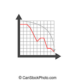Drop chart on grid and white background