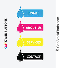 drop cmyk web buttons