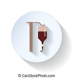 Drop counter flat icon illustration vector graphic design