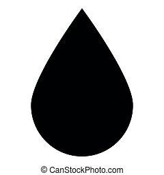Drop icon black color icon