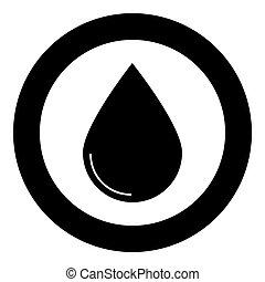 Drop icon black color in circle