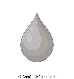 Drop icon, black monochrome style
