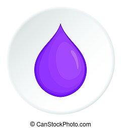 Drop icon, cartoon style