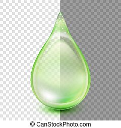 Drop isolated on transparent background. EPS 10 vector