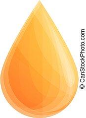 Drop lotion sunblock icon, cartoon style