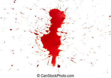drop of blood isolated on white background