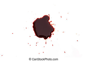 drop of blood on white background