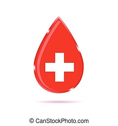 drop of blood sign color vector