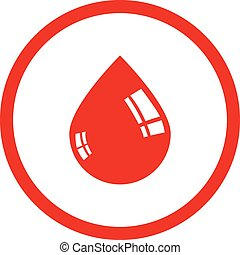 Drop of blood vector icon.