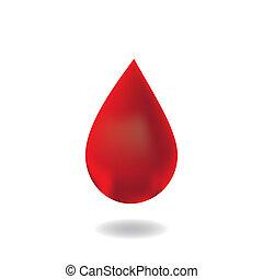 Drop of blood.vector
