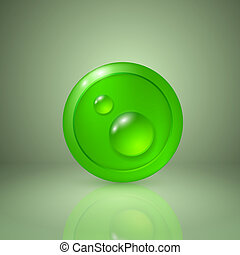 Drop of dew. Icon for app or web design