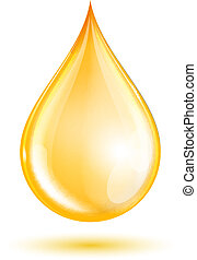 Drop of oil isolated on white background. Vector ...
