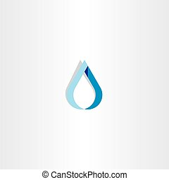 drop of water blue logo sign