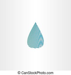 drop of water blue sign vector icon