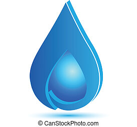 Drop of water icon background logo