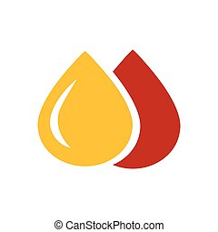 drop of water icon design yellow and red color