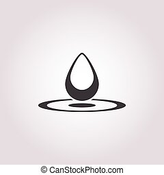 drop of water icon on white background