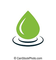 drop of water icon vector green