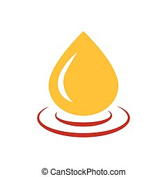 drop of water icon vector yellow and red color