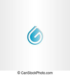 drop of water letter g logo