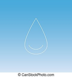 drop of water line thin icon