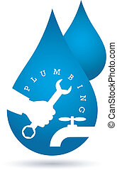 drop of water, plumbing repairs vector