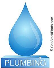 Drop of water plumbing