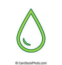 Drop of water sign. Vector. Lemon scribble icon on white background. Isolated