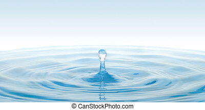drop of water - Beautiful clean drop of water for your...