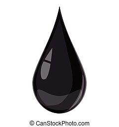 Drop oil icon, cartoon style