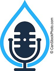Drop Podcast Logo Icon Design